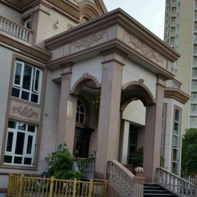 江西红色石材别墅外墙材料供应商