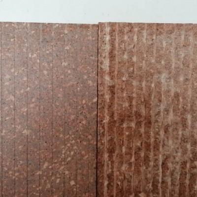 红色石材拉丝面+机刨面样品