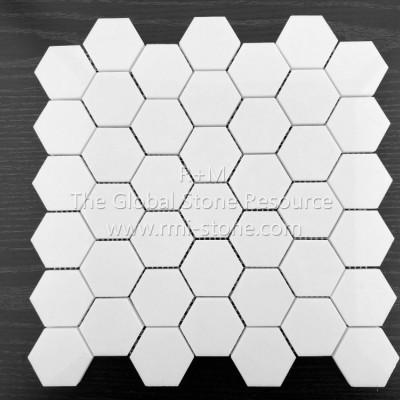 希腊水晶白六角形马赛克