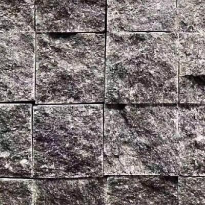广西马蹄石厂家供应钟山青小方块 自然面
