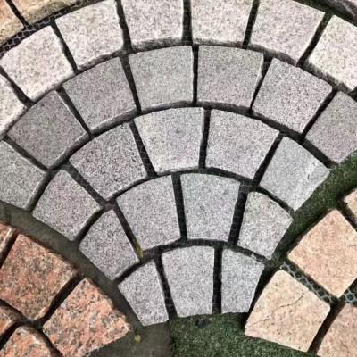 花岗岩扇形地铺
