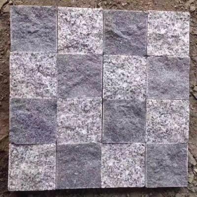 福建芝麻黑+芝麻灰自然面拼贴小方块