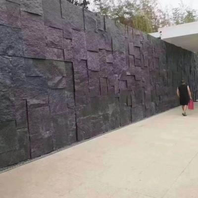 老矿芝麻黑自然面墙面石装