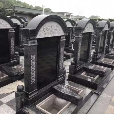 福建芝麻黑石材墓碑配套