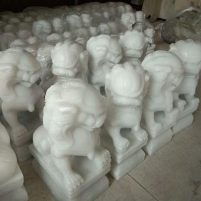 汉白玉石狮子雕刻