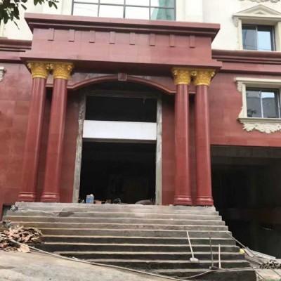中国红门头 柱子 大门柱装饰