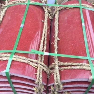 中国红-圆柱石材包边