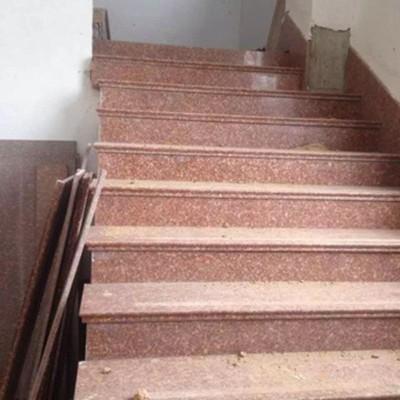 映山红石材楼梯、台阶、地铺应用