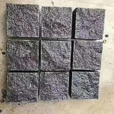 黑色方块石 广西马蹄石