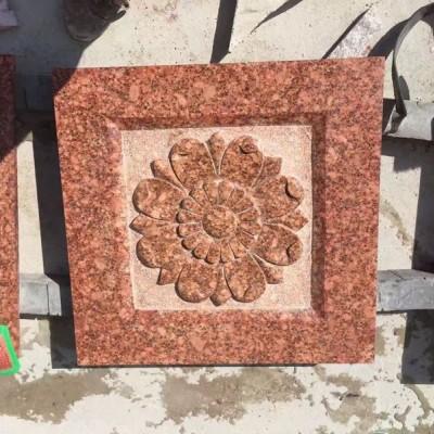 映山红雕花 浮雕 别墅外墙浮雕装饰