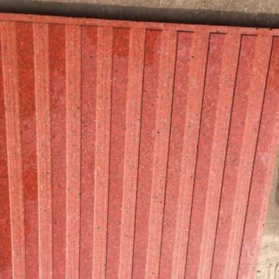 红色花岗岩盲人道