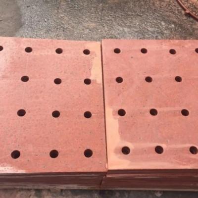 红色地沟盖板(圆孔多孔漏水)