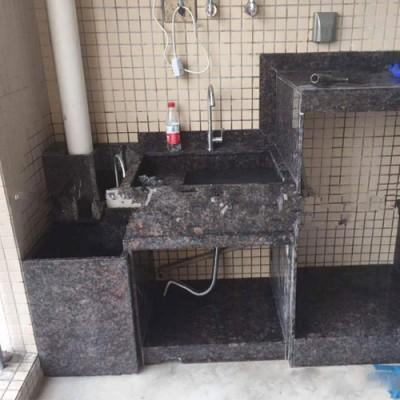 综合式进口石材洗衣池