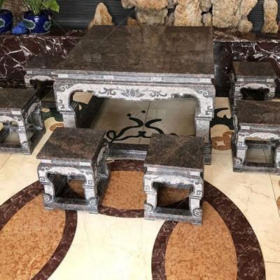 跟中式风格最搭的花岗岩石材桌椅