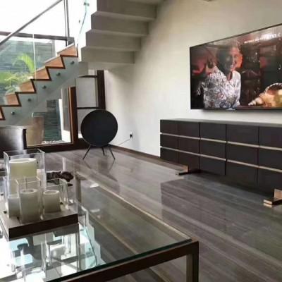 咖啡木纹大理石铺客厅地板