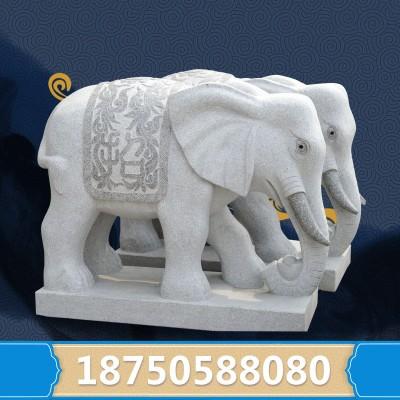 福建大型石雕厂 石头大象图片大全 白麻石大象价格 可来图定制