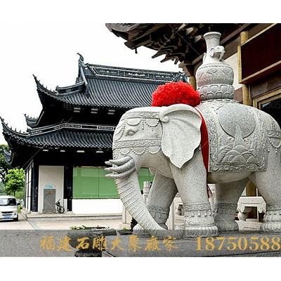 福建石雕大象厂家石材大象图片天津寺庙汉白玉石雕大象图片