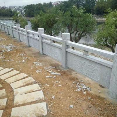 紫蓝花石材河道护栏工程应用