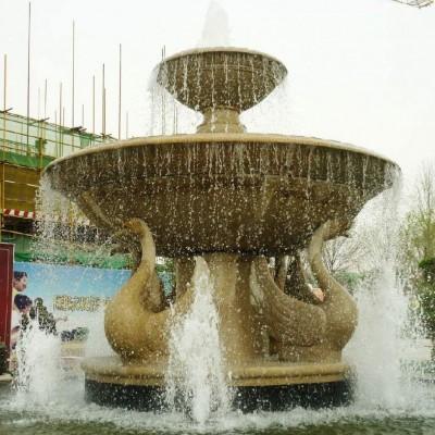 山东锈石喷水池