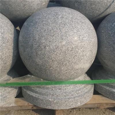 湖北芝麻灰圆球G633石球