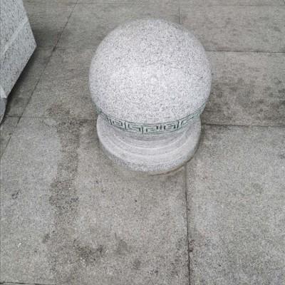 麻城芝麻白圆球挡车石车挡园柱生产厂家