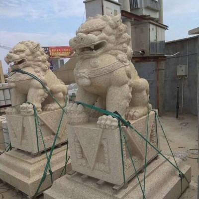 湖北黄金麻狮子雕刻