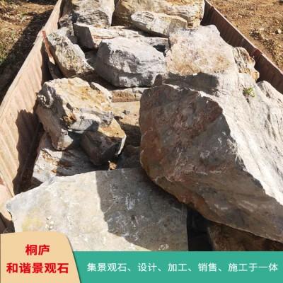 天然龟纹石假山石自然石奇石驳岸石