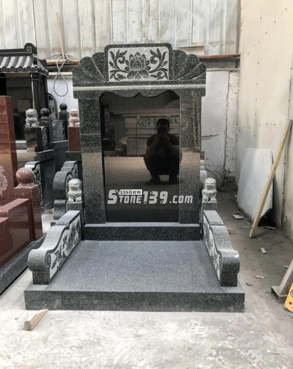 纯黑色墓碑石好料还是中国的山西黑