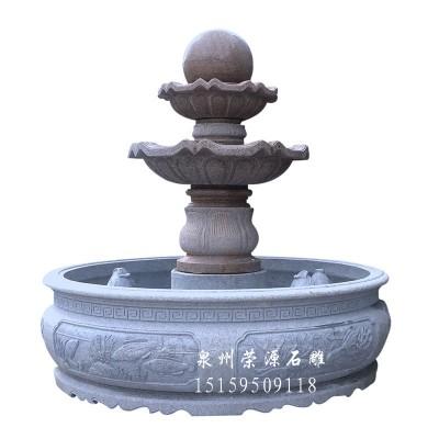 户外大理石喷水池 欧式喷泉石雕来图定制