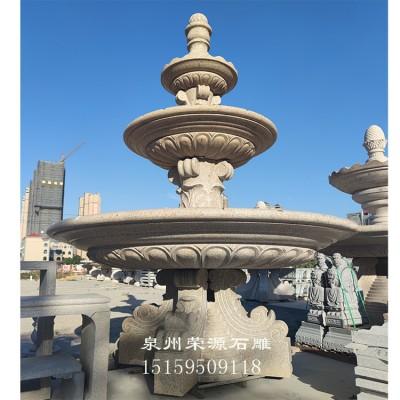 公司大门黄金麻喷泉石雕 西方人物喷水池