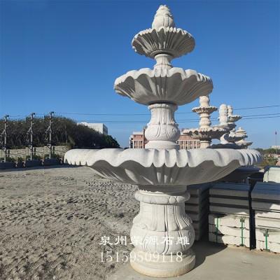 室外大型石雕流水喷泉 欧式人物石雕喷水池