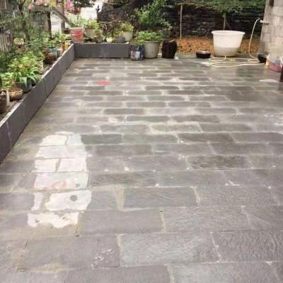 贵阳青石板庭院铺地效果应用