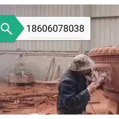 红砂岩花盆雕刻