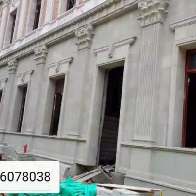 四川青砂岩外墙工地 西式建筑外墙 雕刻 罗马柱