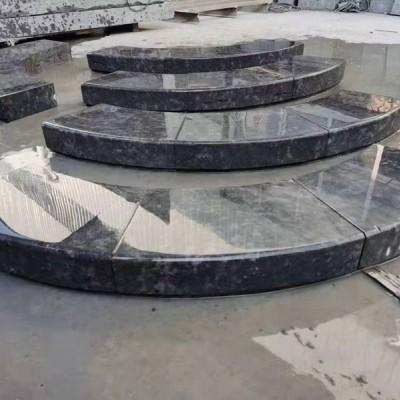 宜宾新中国黑石材圆弧形池子装饰