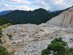 金卡麥礦山(花崗巖荒料堆場)